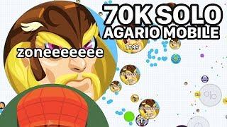 AGARIO MOBILE SOLO 70K (Agar.io Mobile Gameplay)