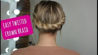 How To: Easy Twisted Crown Braid On Short/Medium Hair