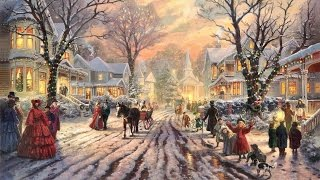 ✔️ 42 Popular Traditional Christmas Carols w/ Festive Art by Thomas Kinkade