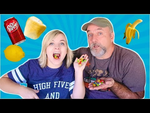 JELLY BEANS VS. REAL FOOD! (W/ My Dad) // SoCassie