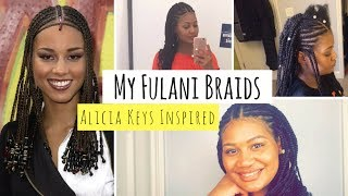 'Alicia Keys' Inspired | My Fulani Braids on Natural Hair