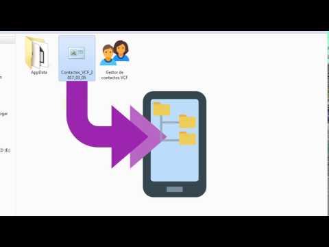 Agenda y gestor de contactos vCard o VCF