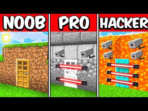 Breaking Into NOOB, PRO, HACKER Minecraft House!