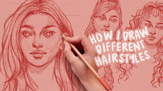 How To Draw Hair For Beginners | Skillshare