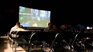 Plenerowe kino Biedronki w Krośnie