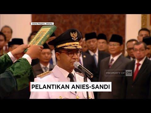 Sah! Anies-Sandi Resmi Pimpin Jakarta, Pelantikan Gubernur & Wagub DKI oleh Presiden Jokowi