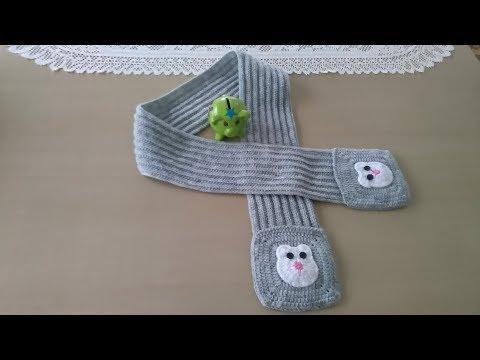 Bufanda con bolsillos para niños