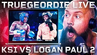 TRUE GEORDIE LIVE REACTION: KSI vs LOGAN PAUL 2