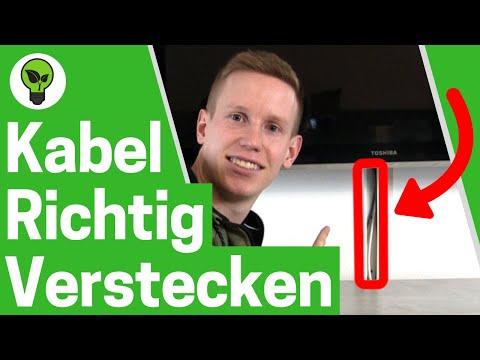 Kabel verstecken & Kabelkanal verlegen ✅ TOP ANLEITUNG: TV Kabelführung an Wand - Kabelsalat ADE!!!