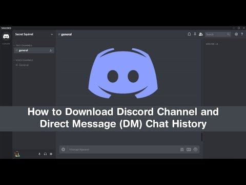 How to Download/Export Discord Channel & Direct Message (DM) History. (chat logs)
