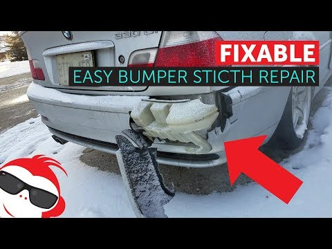 how to fix a bumper with zip ties