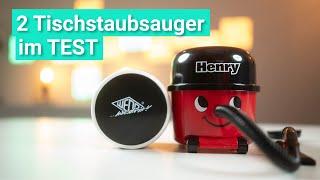 2 Tischstaubsauger im Test - Was der süße Henry & der stylische WEDO Akkusauger im Vergleich können!