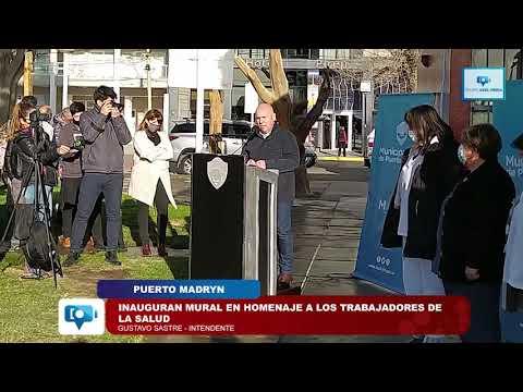 Puerto Madryn | Inauguran mural en homenaje a los trabajadores de la salud