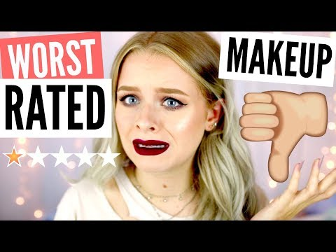 FULL FACE OF THE WORST RATED MAKEUP!! | sophdoesnails