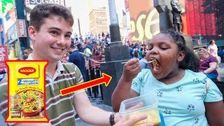 American Strangers Try Indian Maggi for the First Time?!