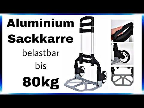 "FALTBARE Aluminium Sackkarre • belastbar bis 80kg   Test & Review   4K Ultra HD   ""DaLaMo"""