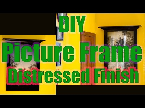 Building a distressed finish picture frame with some poplar wood and crown molding. The finish was d