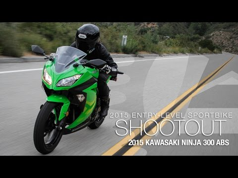 2015 Kawasaki Ninja 300 ABS - Entry Sport Shootout Pt 2 - MotoUSA