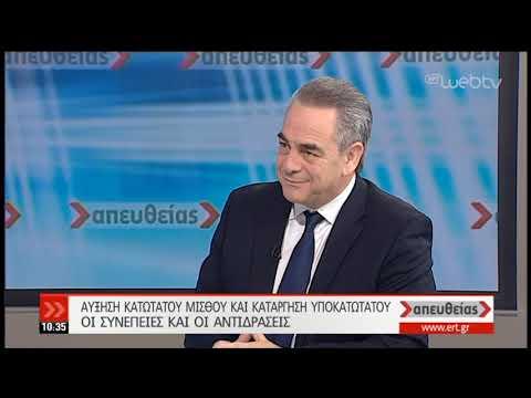 Κ. Μίχαλος: Ήταν λάθος πολιτική η μείωση του τότε κατώτατου μισθού   29/01/19   ΕΡΤ