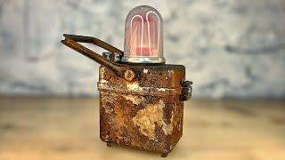 Will it Light? Vintage  Railroad Lamp Restoration