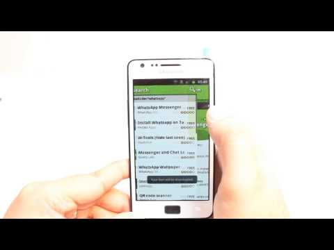 WhatsApp Messenger Install To Samsung Galaxy S2 Mp3