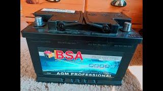 Wie teste ich eine Batterie?  BSA AGM 75Ah - Test nach 19 Monaten - Ergebnis 7,5 Ah = 10%