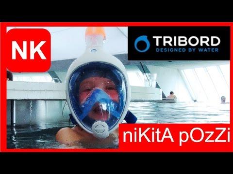 Proviamo Maschera sub  Easybreath Tribord Decathlon per bambini by Canale Nikita