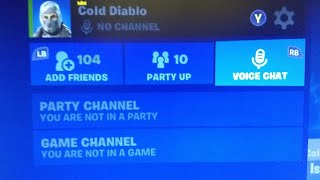 Fortnite Mic Fix Cross-Play Talk to teammates in game! Xbox One PC Ps4