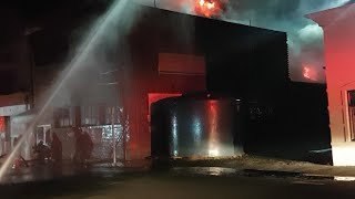 King Edward St structure fire 2020 (live cam footage