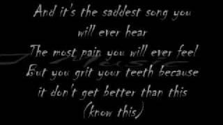 Lyrics to The Saddest Song