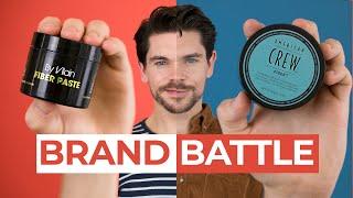 By Vilain Fiber Paste vs. American Crew Fiber   Brand Battle