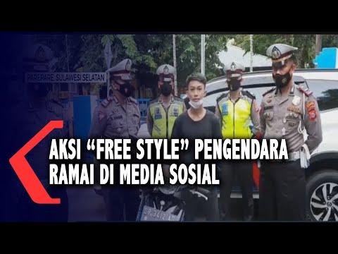 "Aksi ""Free Style"" Pengendara Ramai Di Media Sosial, Pelaku Diamankan Polisi"