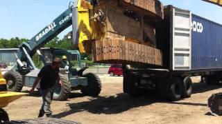 Load Komatsu D65 Bulldozer Into A 40 Foot Container - Big Iron.MOV