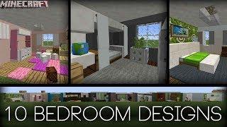 Minecraft - 10 Bedroom Designs! (Plus Tips!)