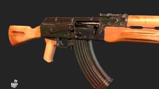 AK 47 3d Model Turntable