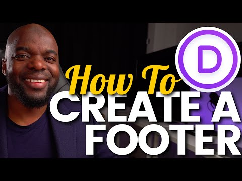 How to create a Divi footer