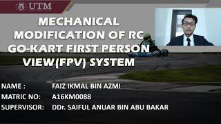 Mechanical Modification of RC Go-kart FPV System