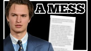ANSEL ELGORT SPEAKS OUT. APOLOGY ANALYSIS. WHAT IS THIS?