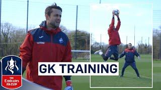 Swansea Goalkeepers Prepare for Tottenham | Goalkeeper Training | Emirates FA Cup 2017/18