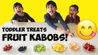 Toddler Treats: Rainbow Fruit Kabobs!