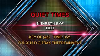 Dido - Quiet Times (Backing Track)