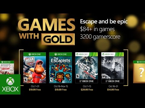 Games with Gold : les jeux d'octobre 2016