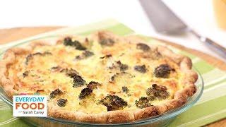 Brunch-Friendly Broccoli Cheddar Quiche - Everyday Food With Sarah Carey
