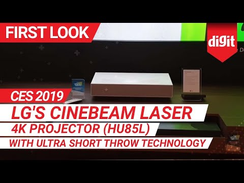LG CineBeam HU85L UST DLP 4K Projector at CES 2019 - смотреть онлайн