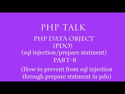 Pdophp Data Object In Hindi Part 8sql Injectionprepare Statementprevent From Sql Injection