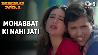 Mohabbat Ki Nahi Jati | Govinda & Karisma Kapoor | Udit N