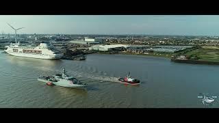 HMS Tamar passing Gravesend, Kent 2020 Dji Phantom 4 Pro