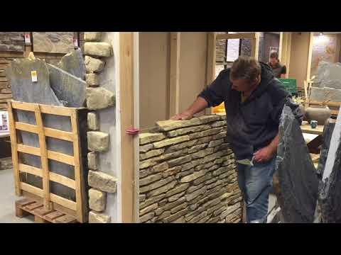 Natuurstenen muren metselen