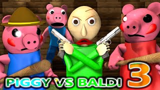 PIGGY vs BALDI ROBLOX CHALLENGE 3! Ft SONIC horror Chapter 1 Peppa Granny Minecraft Animation Game