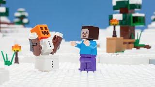 The Snow Hideout - LEGO Minecraft - Stop Motion Mini Movie